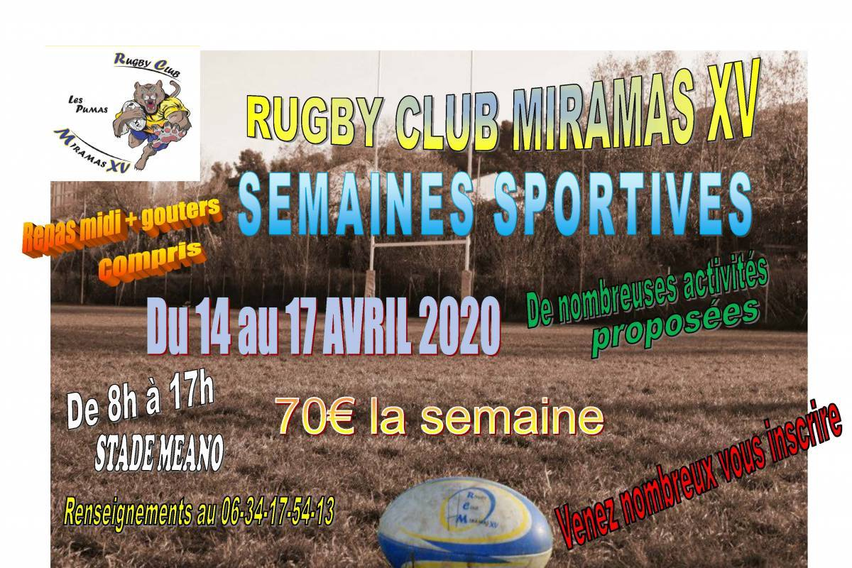 Rugby club miramas - semaine sportive