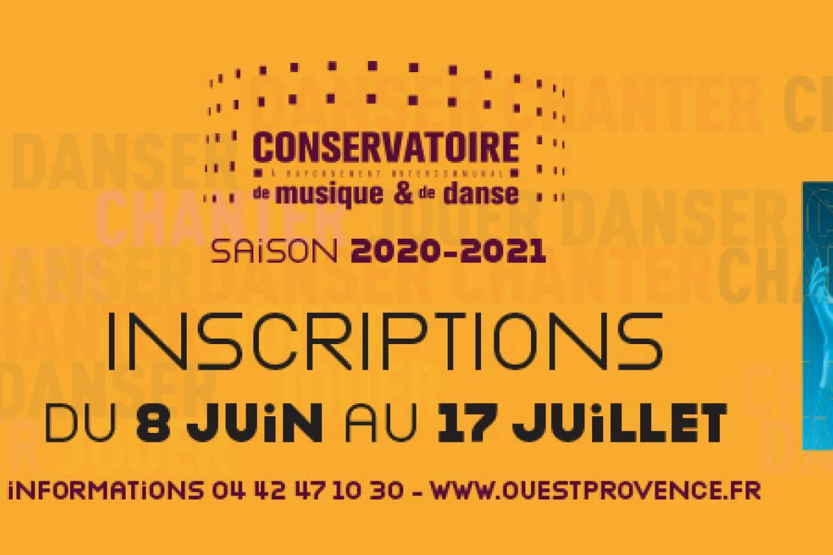 bandeau inscription conservatoire 2020-2021