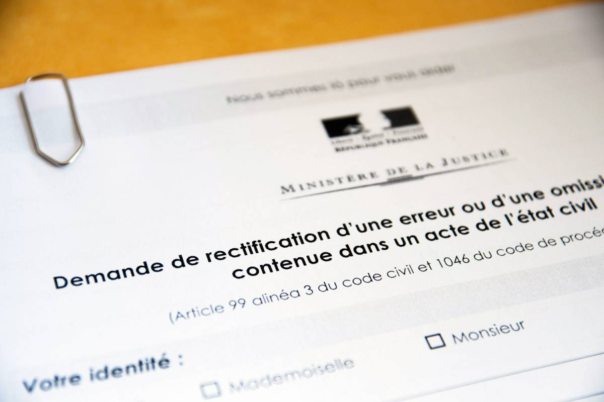 Rectification d'un acte d'état civil