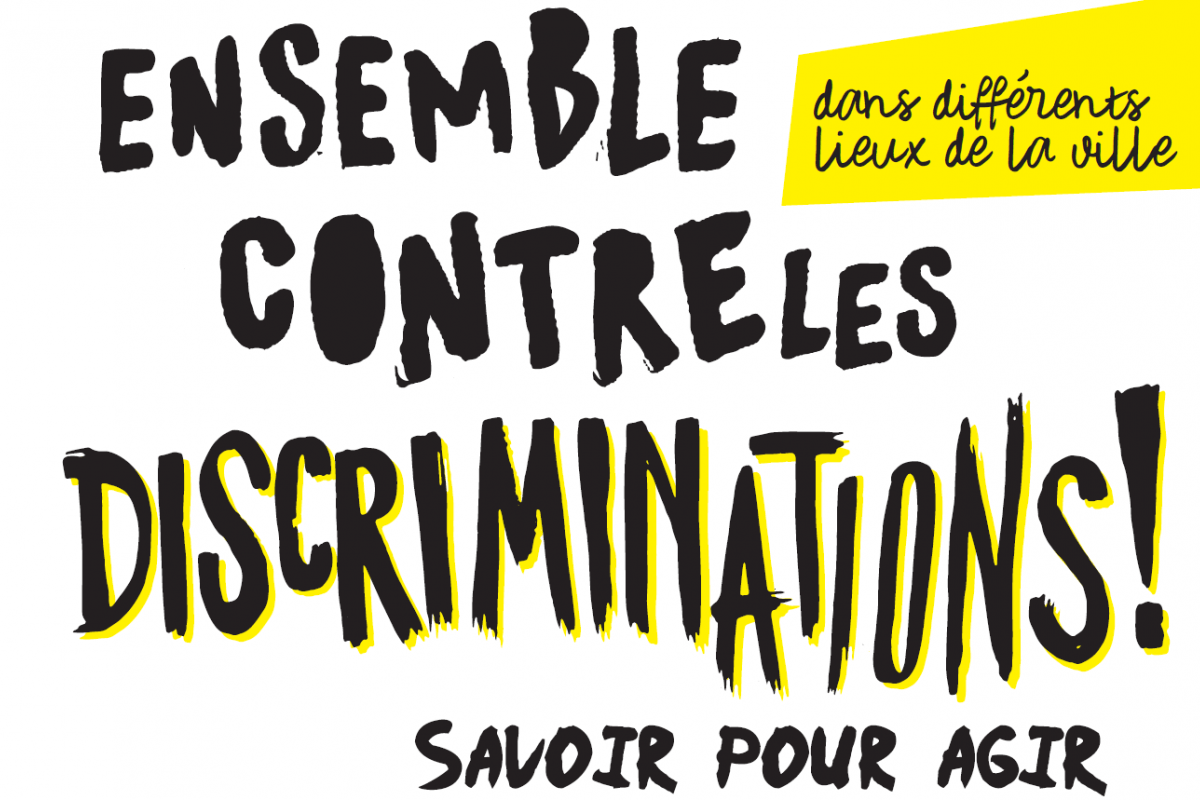 affiche ensemble contre les discriminations