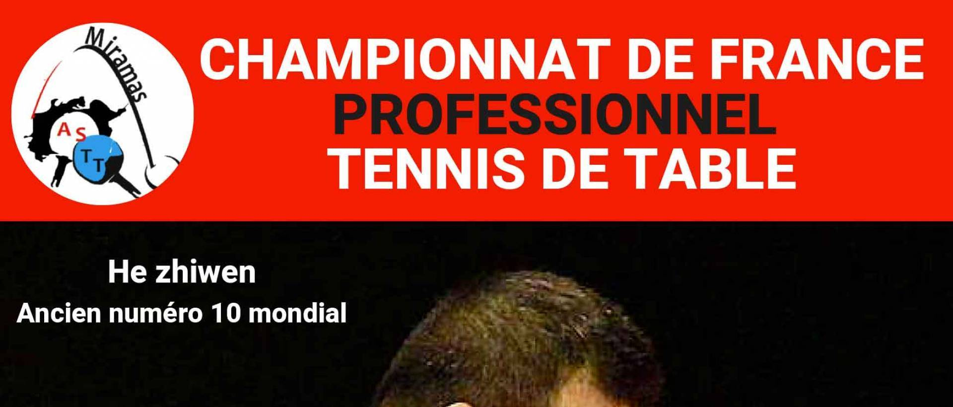 affiche match pro tennis de table